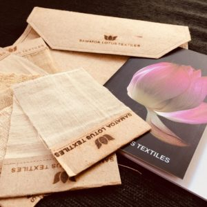 lotus woven textile samples