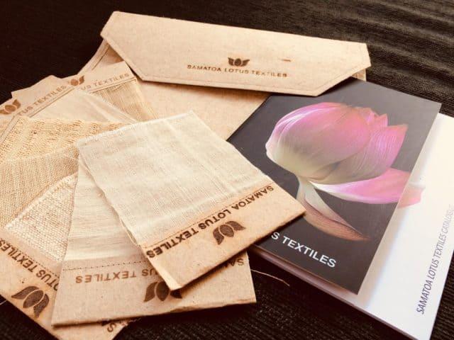 lotus woven textile samples