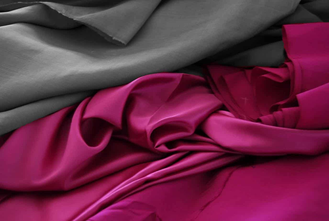 Silk fabric - B&W