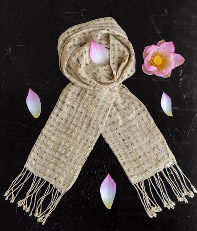 Airy Lotus scarf