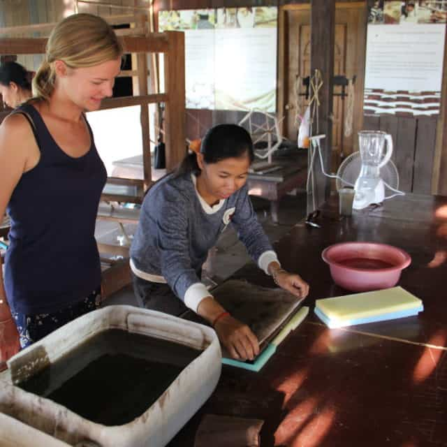 Make your own handicraft workshop siem Reap: lotus recycled paper